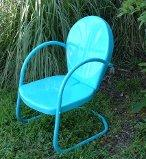 Turquoise Retro Lawn Chair. Two for $159