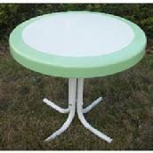 White with Mint Border Side Table $79.95