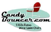 metal lawn chair, tulip chair, shell chair, motel chair, bouncer, glider