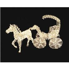 Outdoor Christmas Decorations Horse & Carriage