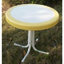 White with Yellow Border Side Table $79.95