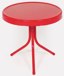 Red Retro Side Table $79.95