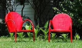 Retro Metal Lawn Chairs