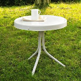Retro Metal Side Patio Table $79.00
