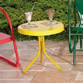Retro Metal Side Patio Table $69.95