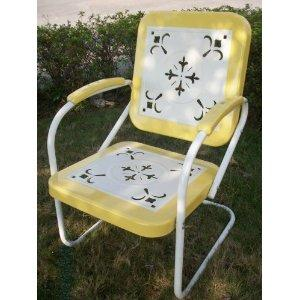 Stamped Retro Lawn Chair $125 Each.  FREE SHIPPING!