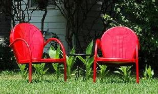 2 Retro Metal Lawn Chairs $179