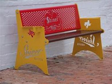 Shiner Beer Bench $695 Free Shipping!!