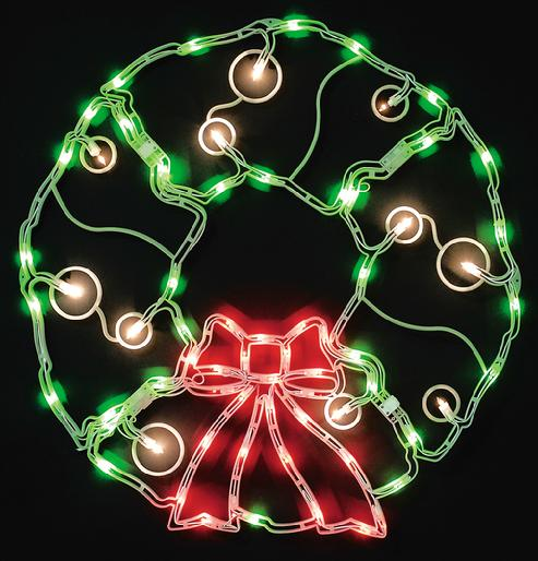 "32"" Outdoor Christmas Wreath 70 lights"